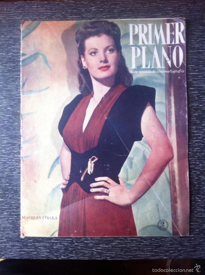 ANTIGUA REVISTA CINE PRIMER PLANO 1946, MAUREEN O'HARA EN PORTADA, VER FOTOS ADICIONALES (Cine - Revistas - Primer plano)