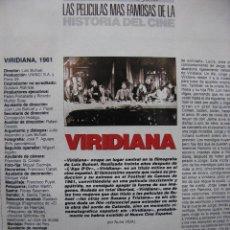 Cine: COLECCIONABLE FOTOGRAMAS. VIRIDIANA. 1961.. Lote 53590555