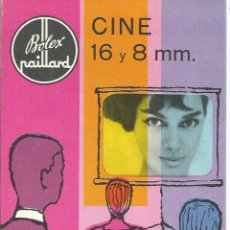 Cinema: BOLEX PAILLARD CATALOGO GAMA COMPLETA PRODUCTOS CINE 16 Y 8 MM AÑOS 50 IMPRESO EN SUIZA. Lote 53643237