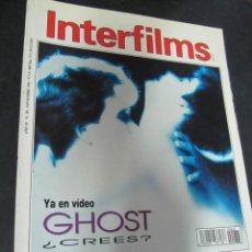 Cine: REVISTA CINE INTERFILMS. Nº 38 NOVIEMBRE 1991 REPORTAJES: LIZA MINELLI GHOST DOUGLAS SIRK. Lote 53702898