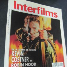 Cine: REVISTA CINE INTERFILMS. Nº 33 JUNIO 1991 REPORTAJES: KATHARINE HEPBURN. HENRY HATHAWAY. ROBIN HOOD. Lote 53702915