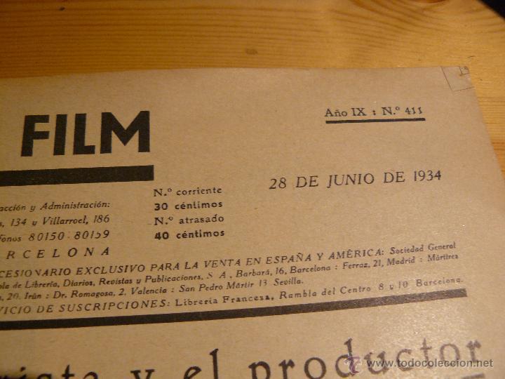 Cine: Revista semanal cinematogràfica. Año IX : Nº 411. 28 de Junio de 1934 - Foto 2 - 53712912