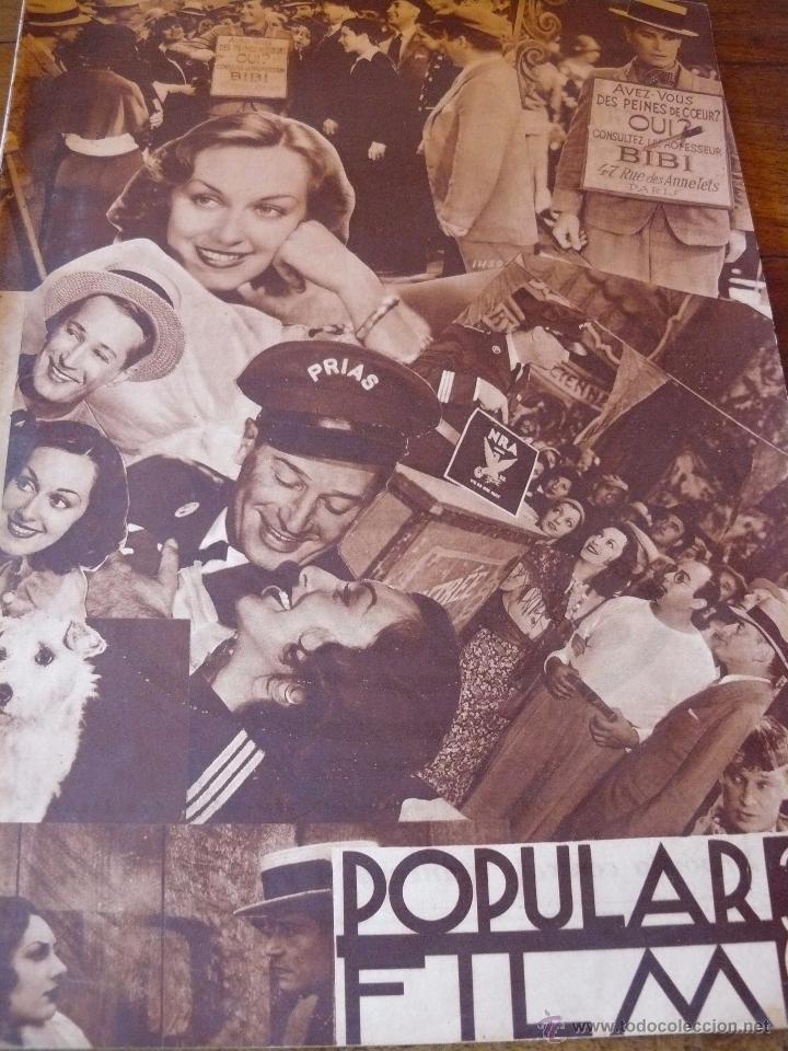 REVISTA CINEMATOGRÀFICA POPULAR FILM. AÑO IX : Nº 415. 26 DE JULIO DE 1934 (Cine - Revistas - Popular film)
