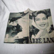 Cinéma: ABBE LANE COLECCION IDOLOS DEL CINE Nº 32.-1958. Lote 53911579