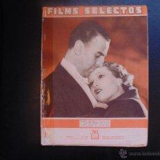 Cine: REVISTA FILMS SELECTOS Nº140 -1933 PORTADA ANABELLA Y JEAN MURAT. Lote 53954665