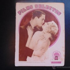 Cine: FILMS SELECTOS Nº78 ABRIL DE 1932 PORTADA ALISON LLOYD Y CHESTER MORRIS. Lote 53954830