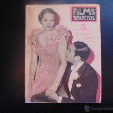 Cine: FILMS SELECTOS Nº166 DE 1933 PORTADA GEORGE RAFF CONTANCE CUMMINGS. Lote 53954931