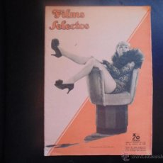 Cine: FILMS SELECTOS Nº227 DE 1935 PORTADA CRACE BRADLEY, REVISTA SEMANAL. Lote 53955225