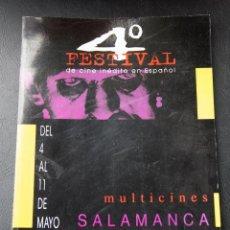 Cine: 4º FESTIVAL DE CINE INEDITO EN ESPAÑOL - SALAMANCA - 1996 - CATALOGO OFICIAL. Lote 53958007