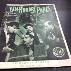 Cine: UN HOMBRE EN PARÍS- EDICIONES RIALTO. Lote 53973444