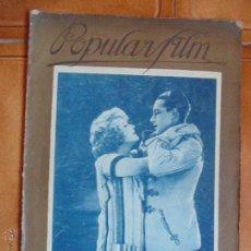 Cine: REVISTA DE CINE POPULAR FILM Nº41,AÑO 1927,CRONICA DE CINE DE LA EPOCA.. Lote 54058148