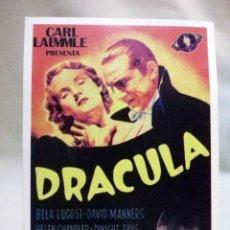 Cinema: PROGRAMA DE CINE, FASCIMIL, DRACULA, BELA LUGOSI, DAVID MANNERS, MEDIDAS: 14X9 CM. Lote 54223607