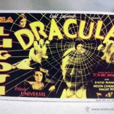 Cinema: PROGRAMA DE CINE, FASCIMIL, DRACULA, BELA LUGOSI, DAVID MANNERS, MEDIDAS: 13X8.5 CM.. Lote 54223619