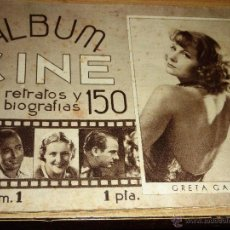 Cine: REVISTA ALBUM CINE 150 RETRATOS Y BIOGRAFIAS Nº 1 GRETA GARBO - TYRONE POWER - IMPERIO ARGENTINA. Lote 54398363