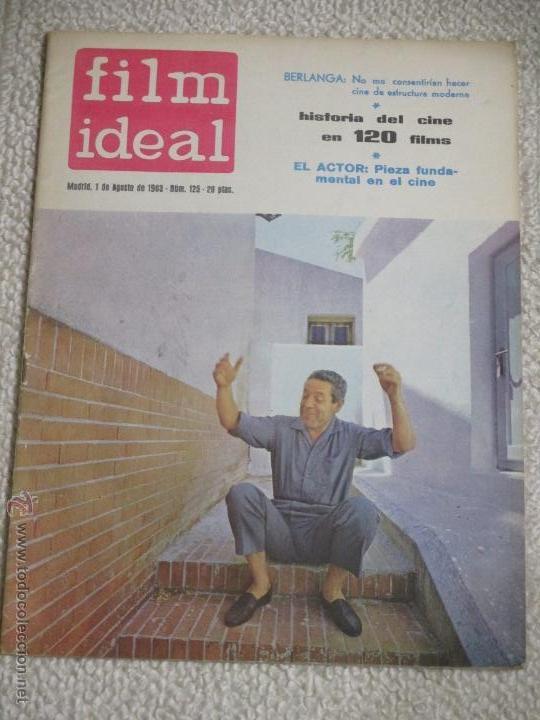 LOTE 12 REVISTAS FILM IDEAL AÑOS 60, BERLANGA, BARDEM, PASOLINI, FELLLINI, EISENSTEIN, ETC. (Cine - Revistas - Film Ideal)