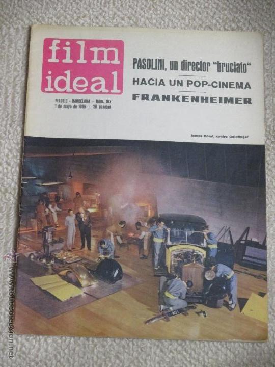 Cine: Lote 12 revistas Film Ideal años 60, Berlanga, Bardem, Pasolini, Felllini, Eisenstein, etc. - Foto 2 - 54402571