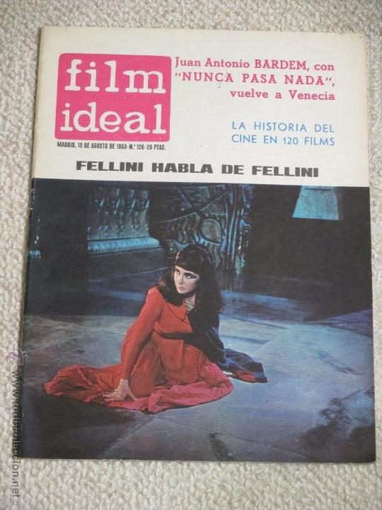 Cine: Lote 12 revistas Film Ideal años 60, Berlanga, Bardem, Pasolini, Felllini, Eisenstein, etc. - Foto 3 - 54402571