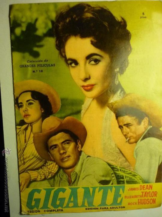 REVISTA 18 GRANDES PELICULAS GIGANTE - JAMES DEAN - E.TAYLOR - R.HUDSON BB (Cine - Revistas - Colección grandes películas)