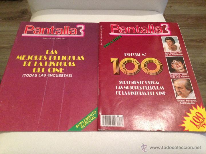REVISTA CINE PANTALLA 3 MAS SUPLEMENTO AÑO 1991 JUNIO NUMERO 100 350 PTAS ESPECIAL JOHN TRAVOLTA (Cine - Revistas - Otros)