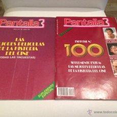 Cine: REVISTA CINE PANTALLA 3 MAS SUPLEMENTO AÑO 1991 JUNIO NUMERO 100 350 PTAS ESPECIAL JOHN TRAVOLTA. Lote 54561936
