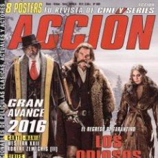 Cine: ACCION N. 1601 ENERO 2016 - EN PORTADA: LOS ODIOSOS OCHO (NUEVA). Lote 126393532