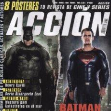 Cine: ACCION N. 1603 MARZO 2016 - EN PORTADA: BATMAN VS. SUPERMAN (NUEVA). Lote 214115160