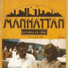 Cine: MANHATTAN. Nº 1. ENERO DEL 1.987. MUY NUEVA.. Lote 54885028