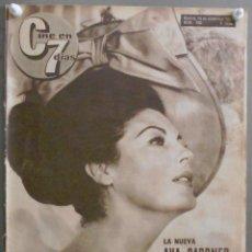 Cine: WR96D AVA GARDNER BRIGITTE BARDOT REVISTA ESPAÑOLA CINE EN 7 DIAS DICIEMBRE 1963 Nº 140. Lote 55238630