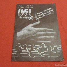 Cine: UNDER GUIA UG NUMERO 4 1976 FANZINE REVISTA SOBRE CINE DE BARCELONA. Lote 55241775