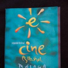 Cine: SEGUNDO FESTIVAL DE CINE ESPAÑOL DE MALAGA 1999 - MAS CALENDARIO DE PROGRAMACION. Lote 55323609