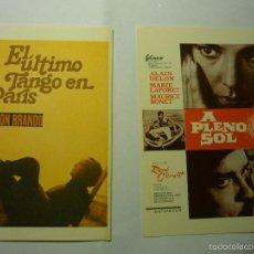 Cine: LOTE PROGRAMAS MODERNOS A PLENO SOL-EL ULTIMO TANGO EN PARIS. Lote 55359815