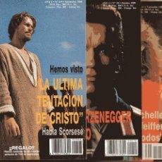 Cine: LOTE 5 REVISTAS ESTRENOS 1988-89 Nº(8+9)-10-11-12-(13+14): FICHAS,CARATULAS,CARTELES... ED.TEMPO. Lote 55360205