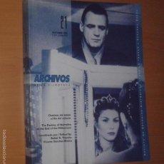 Cine: ARCHIVOS DE LA FILMOTECA Nº 21, 1995 [DESTINOS DEL RELATO AL FILO DEL MILENIO]. Lote 55370845