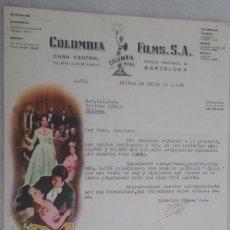 Cine: CANCION INOLVIDABLE, FACTURA COLUMBIA FILMS. S. A.. Lote 55690862