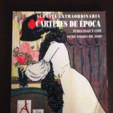 Cine: CATÁLOGO SUBASTA EXTRAORDINARIA CARTELES DE ÉPOCA PUBLICIDAD Y CINE / 30 ENERO 2003 / SOLER Y LLACH. Lote 55819240