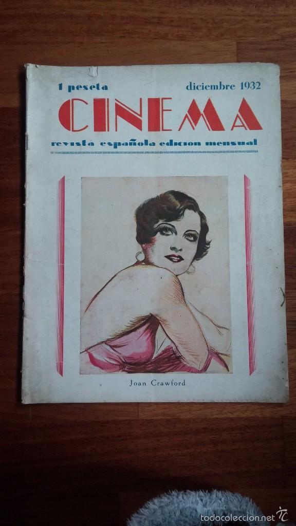 CINEMA , REVISTA ESPAÑOLA EDICIÓN MENSUAL , DICIEMBRE 1932 . (Cine - Revistas - Cámara)