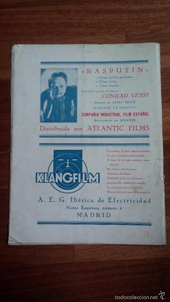 Cine: CINEMA , REVISTA ESPAÑOLA EDICIÓN MENSUAL , DICIEMBRE 1932 . - Foto 2 - 55831594