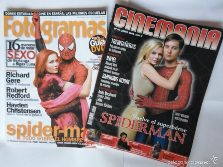 LOTE CINEMANIA Nº 81 Y FOTOGRAMAS Nº 1904 - SPIDERMAN - AÑO 2002 (Cine - Revistas - Cinemanía)