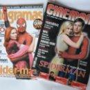 Cine: LOTE CINEMANIA Nº 81 Y FOTOGRAMAS Nº 1904 - SPIDERMAN - AÑO 2002. Lote 55866881