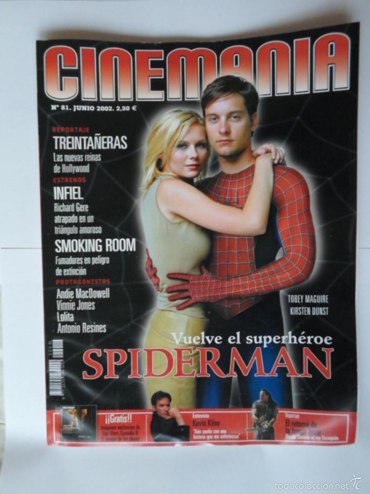 Cine: LOTE CINEMANIA Nº 81 Y FOTOGRAMAS Nº 1904 - SPIDERMAN - AÑO 2002 - Foto 2 - 55866881