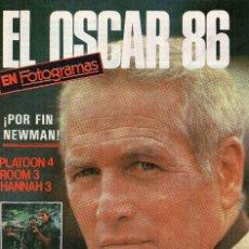 Cine: EL OSCAR 86, SUPLEMENTO FOTOGRAMAS. Lote 55935946