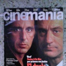 Cine: REVISTA CINEMANIA N 5. PACINO, DE NIRO, SABRINA, SHOWGIRLS. Lote 56009154