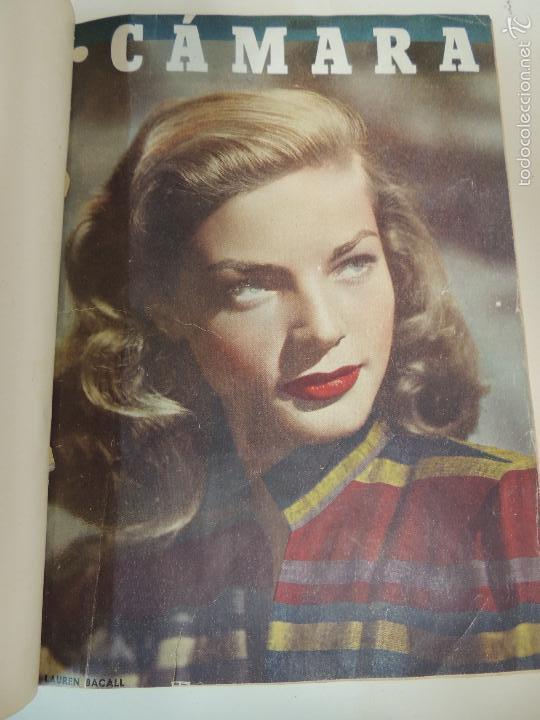 REVISTA CAMARA TOMO ENCUADERNADO AÑO 1949 Nº DEL 149 AL 167 (24 EJEMPLARES) LAUREN BACALL (Cine - Revistas - Cámara)