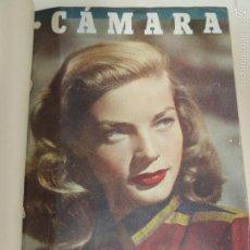 Cine: REVISTA CAMARA TOMO ENCUADERNADO AÑO 1949 Nº DEL 149 AL 167 (24 EJEMPLARES) LAUREN BACALL. Lote 56118506