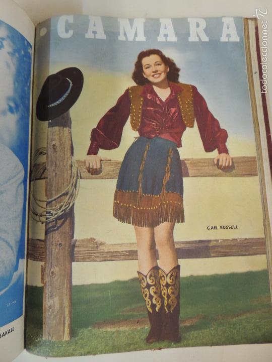 Cine: revista camara tomo encuadernado año 1949 nº del 149 al 167 (24 ejemplares) lauren bacall - Foto 3 - 56118506