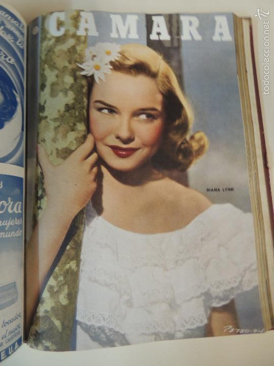 Cine: revista camara tomo encuadernado año 1949 nº del 149 al 167 (24 ejemplares) lauren bacall - Foto 5 - 56118506