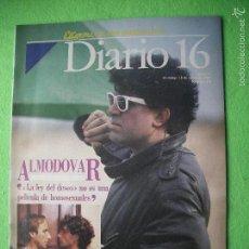 Cine: REVISTA 'DIARIO 16', Nº 278. 18 DE ENERO DE 1987. PEDRO ALMODÓVAR EN PORTADA.. Lote 56189931
