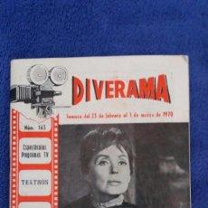 Cine: DIVERAMA / NÚMERO 163 / 1970. Lote 56216889