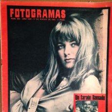Cine: REVISTA FOTOGRAMAS - 17 DE MARZO 1967- PORTADA DIANE BOND. Lote 56285961