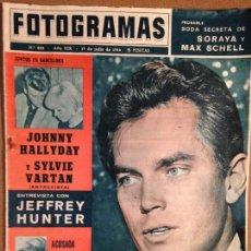 Cine: REVISTA FOTOGRAMAS - 17 DE JULIO 1964 - PORTADA ENTREVISTA JEFFREY HUNTER. Lote 56286043